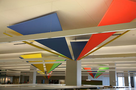 TFS Design Constructed Several Of These Tension Fabric Ceiling Hangings For Permanent Installation In A Newly Renovated Public Library St Cloud Minn